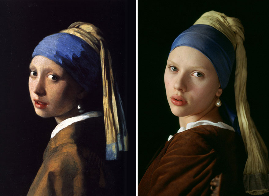 Photo of girl with a pearl earring