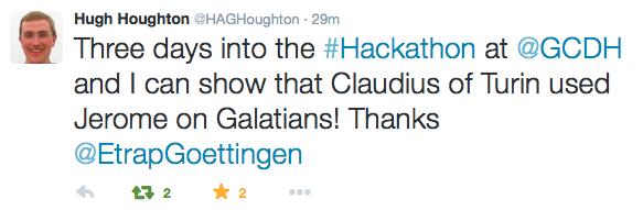 A tweet from hacker Hugh
