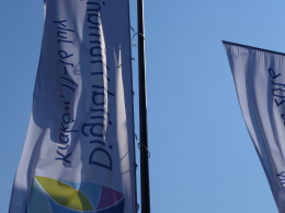 Photo of conference flags.