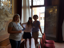 Photo of Eleonora Litta, Elena Spadini and Greta, AIUCD 2016, 08.09.2016.