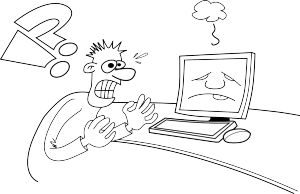 Computer cartoon